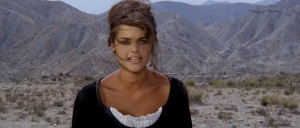Carmen (Tina Aumont) states her case against magnificent Spanish backdrops in Man, Pride & Vengeance (1967).